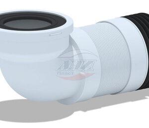 K719R Удлинитель гибкий для унитаза , угол 90*, короткий