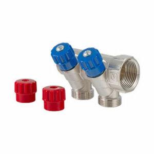 Коллектор 1 2 выхода с регулировочными вентилями 1/2 ш VALTEС (VTс.560.N.0602)
