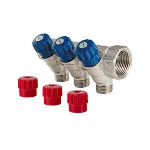 Коллектор 1 3 выхода с регулировочными вентилями 1/2 ш VALTEС (VTс.560.N.0603)