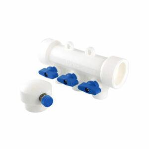 Коллектор с отсечными кранами 40 вн х 4 вых. 20 вн PP-R VALTEC (VTр.780.0.402004) Распродажа