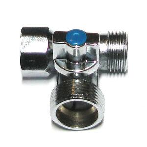 Кран 3-х проходной 1/2х3/4х1/2 для подкл. с/т приборов шаров.(VT.256,N.04)