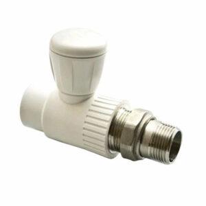 Кран для подключения радиатора прямой 25х3/4' PP-R РВК