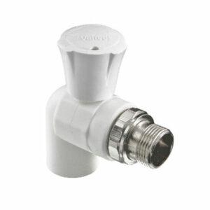 Кран для подключения радиатора угловой 20х1/2' PP-R VALTEC (VTр.718)