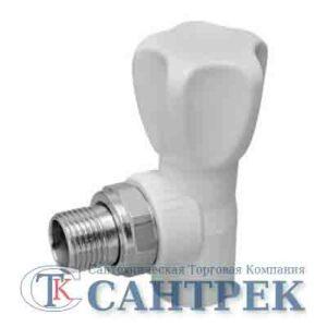 Кран п/радиатор с американкой 20-1/2 PP-R штуцер угловой KALDE