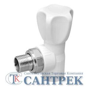 Кран п/радиатор с американкой 25-3/4 PP-R штуцер угловой KALDE