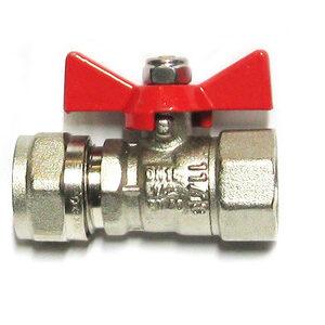 Кран шар. для металлопл. трубы 1/2'х16 г/ц баб. VALTEC (VT. 342)
