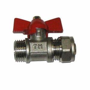 Кран шар. для металлопл. трубы 1/2'х16 ш/ц