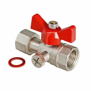 Кран шаровой VALTEC для подключения манометра 1/2 г/г (VT.807.N.0404)