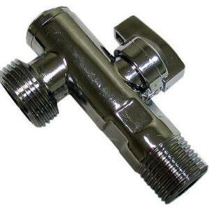 Кран угловой 1/2-3/4 c фильтром TRm (752) L94