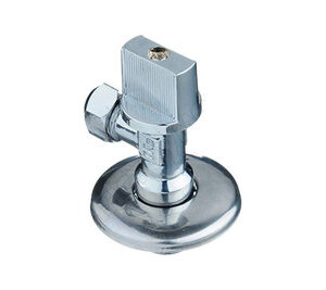 Кран угловой 1/2-3/8 с цангой на 10 мм с отраж TRm (723) L86
