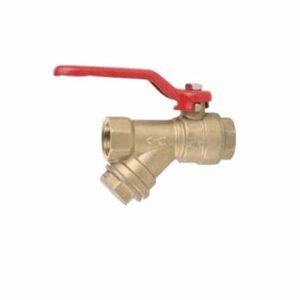 Кран вода JIF 1/2' г/г руч с фильтром (375BR)