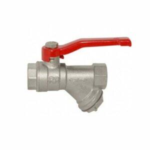 Кран вода RR 1/2' г/г руч с фильтром (375)
