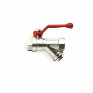 Кран вода RR 3/4' г/г руч с фильтром (375)