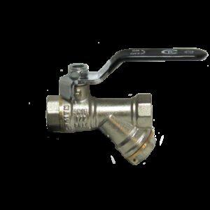 Кран вода СТК (рег.№468190) 1/2' с фильтром руч. PN 20