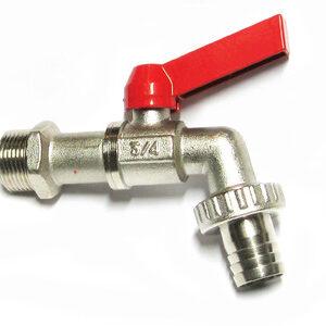 Кран вода VALTEC 3/4' с носиком (VT.051)