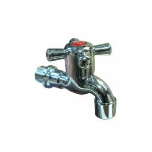 Кран водоразборный 1/2' пластиковый с аэратором (ХРОМ) крест
