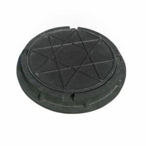 Люк канализационный круглый малый полимерный (d 460 h 50мм) черный