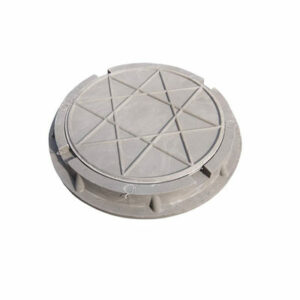 Люк канализационный круглый малый полимерный (d 460 h 50мм) серый