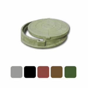 Люк канализационный круглый полимерный 760х90 (нагрузка 30-70 кН) зеленый