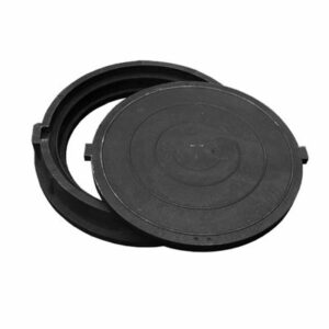Люк канализационный круглый полимерный тип 'тяжелый' 750х115х630 (нагрузка 250 кН)