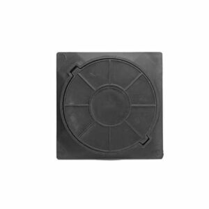 Люк канализационный квадратный полимерный легкий смотровой (450х450х40мм) черный