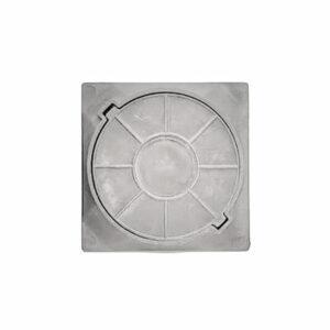 Люк канализационный квадратный полимерный легкий смотровой (450х450х40мм) серый