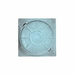 Люк канализационный квадратный полимерный легкий смотровой (450х450х40мм) зеленый