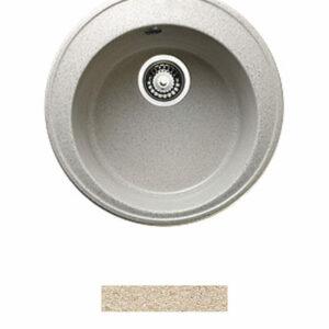Мойка GRANICOM G-009 D=470 мм, круглая (сахара-песочный)