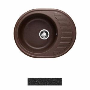 Мойка GRANICOM G-015 (620*490мм), 1 чаша+ крыло овал (антрацит-черный)