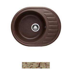 Мойка GRANICOM G-015 (620*490мм), 1 чаша+ крыло овал (кремовый)