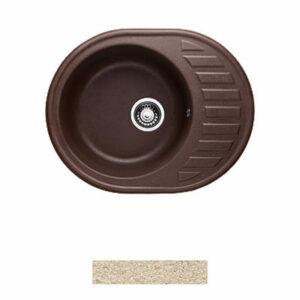 Мойка GRANICOM G-015 (620*490мм), 1 чаша+ крыло овал (сахара-песочный)