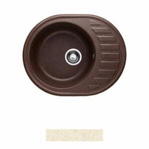 Мойка GRANICOM G-015 (620*490мм), 1 чаша+ крыло овал (шампань-бежевый)