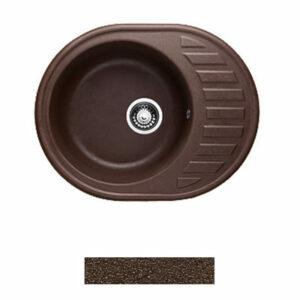 Мойка GRANICOM G-015 (620*490мм), 1 чаша+ крыло овал (шоколад-тем.коричневый)