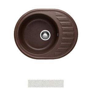 Мойка GRANICOM G-015 (620*490мм), 1 чаша+ крыло овал (жасмин-белый)