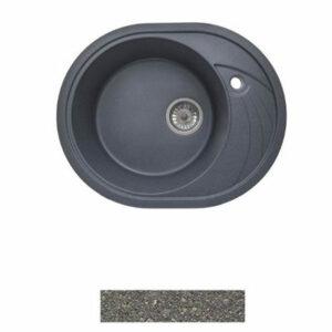 Мойка GRANICOM G-020 (570*465мм), 1 чаша+ крыло овал (грей-серый)