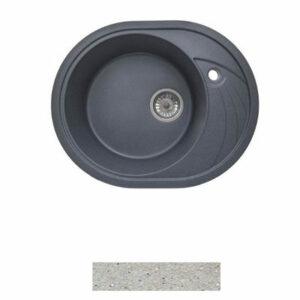 Мойка GRANICOM G-020 (570*465мм), 1 чаша+ крыло овал (серебристый)