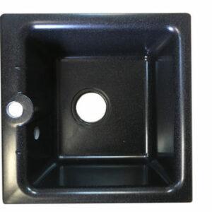 Мойка GRANICOM NOVELL Ирбис D=410 мм (обсидиан) (без сифона)
