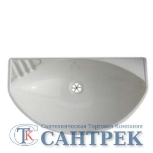 Мойка пластик 54*30 (г.Киров) кроншт, сифон (белый мрамор)