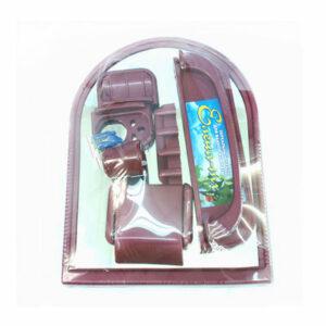 Набор д/ван ком с зерк арка бордовый