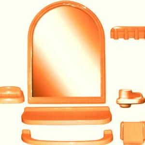 Набор д/ван ком с зерк арка оранжевый