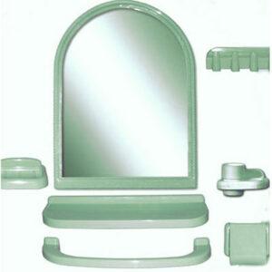 Набор д/ван ком с зерк арка зеленый