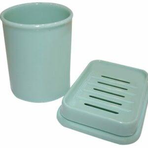 Набор Мыльница+стаканчик пластик цвет микс. РТ1315