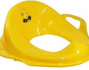 НАСАДКА на унитаз детская С ручками пластик (жёлтый)