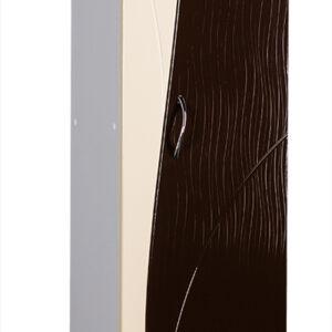 Пенал 'Allessandro' 350х1900х300 (ваниль/коричневый)