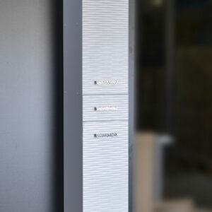 Пенал 'FIESTA' волна 3D 1дв/1ящ./1откид. (белый мет.) 300*1900*300