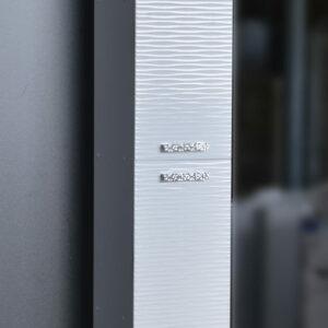 Пенал 'FIESTA' волна 3D 2 двери (белый мет.) 300*1900*300