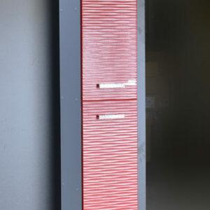 Пенал 'FIESTA' волна 3D 2 двери (гранат мет.) 300*1900*300