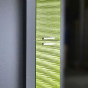 Пенал 'FIESTA' волна 3D 2 двери (олива мет.) 300*1900*300