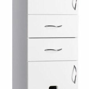 Пенал 'Империя' (белый) 2 ящика 350х1950х300