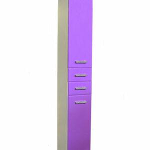 Пенал 'Марта-30' 2дв. 2ящ. с корзиной (Фиолетовый) 300х1900х350